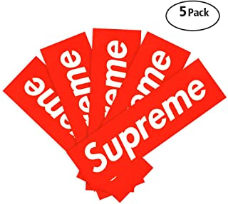 QEMILYQ Stickers, 5PCS Street Fashion Oil Waterproof Laptop Vinyl Sticker for Water Bottles,Phones,Luggage,Motorcycle, MacBook,Sketeboard, DIY Party Supplie Patches Decal-7.5 x 2 inch Box Logo