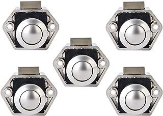 LESOLEIL 5 St/ück Mini Push Button Catch Door Locks Verriegelung Schrankknopf Locks f/ür Caravan Camper Motorhome Nickel