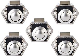 Bona 5 stuks push button catch deurvergrendeling 15-27 mm vergrendelingsregelaar voor boot paardenaanhanger camper van, wit