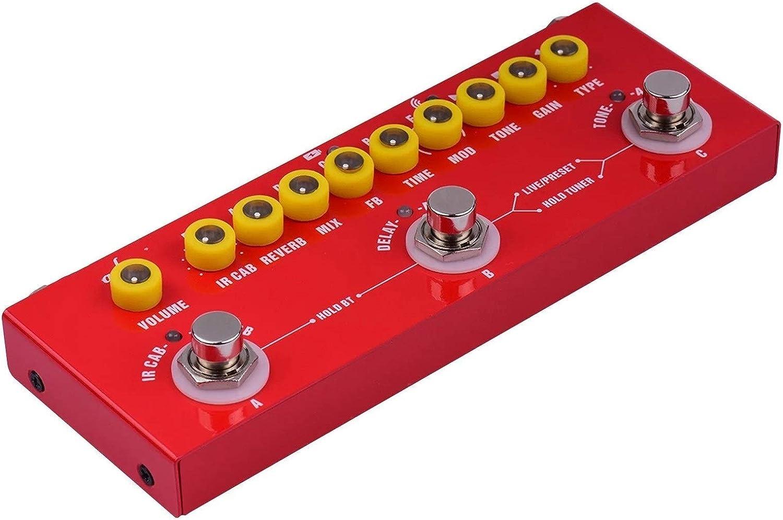 Pedal de Guitarra Guitarra eléctrica multifuncional portátil Pedal de efectos combinados Batería incorporada con grabación de teléfono Reproducción de música de música inalámbrica Función de interfaz