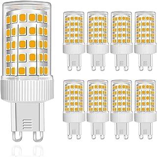 MENTA Bombillas LED G9 10W, Equivalente a 80W Halógena, Blanco Cálido 3000K, 800lúmenes, 86-SMD 2835 Lámpara Bombilla, 220-240 VAC, No Regulable, Ángulo de Luz de 360°, Garantía de 2 año, Pack de 8