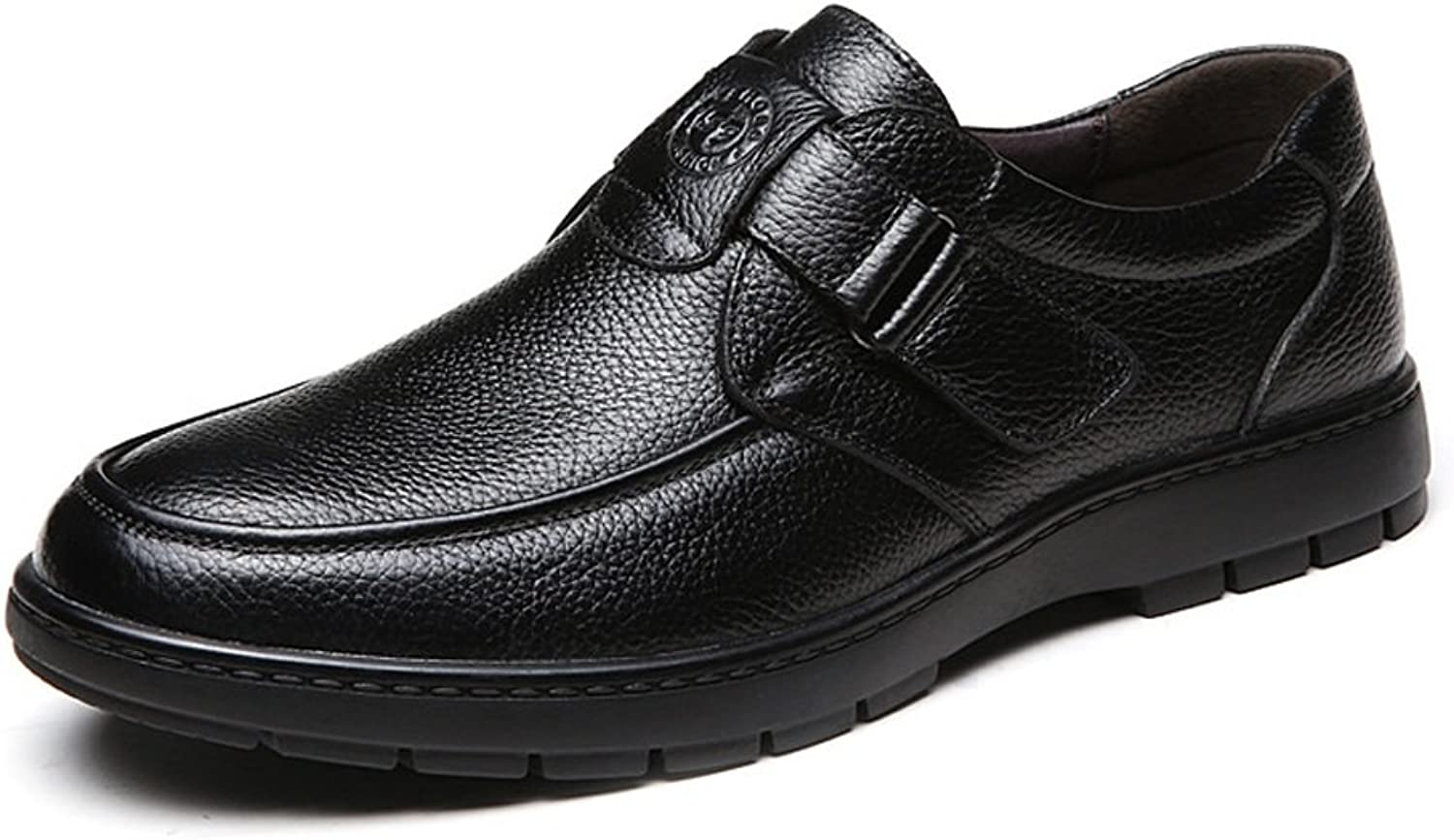 XHD- Classic shoes Classic Comfort shoes Men's shoes Genuine Cowhide Leather Upper Slip-on Flat Soft Sole Loafer