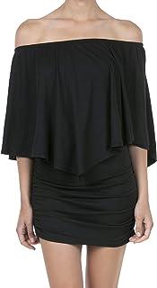 e671c0ad7 SHOP DORDOR Women's Off Shoulder Ruffle Party Dresses Bodycon Mini Dress