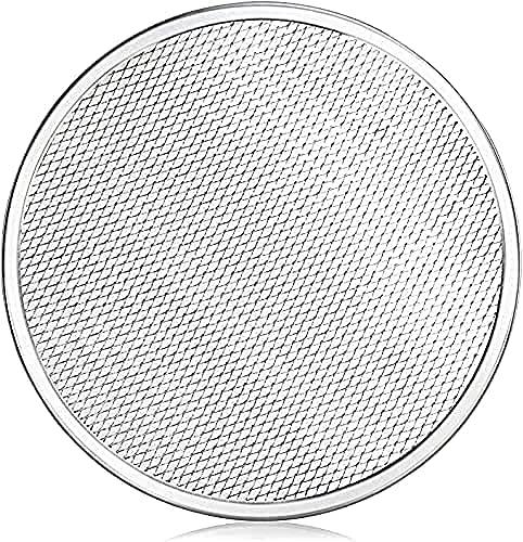"Jegwar Premium-Grade Aluminum Pizza Baking Screen, Seamless, 12-Inches Sturdy, Rust Free, Pure Aluminum baking mesh round 12"" inches"