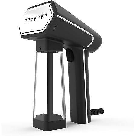 Steamer Défroisseur Vapeur SN50SB - Fer à Vapeur Prêt en 45s - Repassage Automatique Tout Tissu - Poignée Ergonomique - Connecteur de Bouteille et Porte-Cintre Ventouse Inclus - SteamOne
