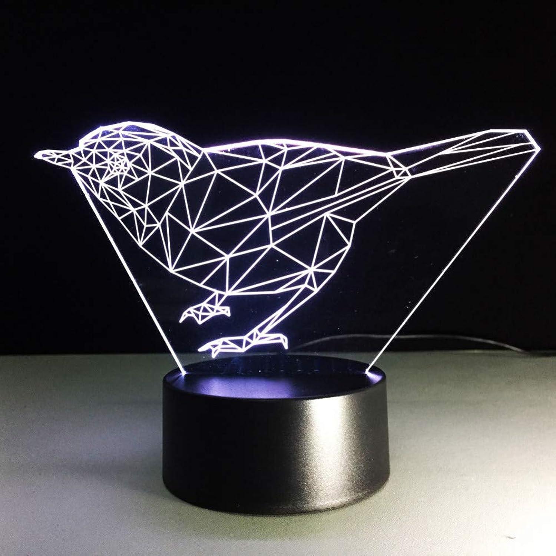 Laofan Led Baby Nachttischlampe Nachtlicht Atmosphre USB 3D Vogel Lampe Schlaf Geschenke Leuchte Dekor Schlafzimmer Schreibtischlampe,Remote und berühren