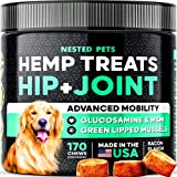 || GIVE YOUR PET A PHYSICAL & MENTAL ADVANTAGE || — Infused with 100% Organic Hemp Seed Oil + Hemp Powder our Advanced Hip & Joint soft chews help to support and repair joints and cartilage, soothe inflammation, and provide pain relief || 50% MORE DE...