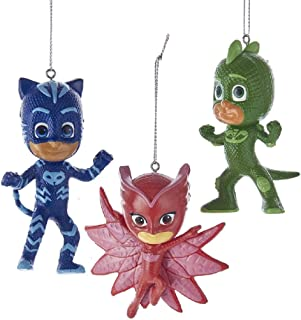 Kurt Adler 3.5-Inch PJ Masks Christmas Ornament Set of 3