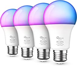 Smart Light Bulbs 4 Pack, RGB Color Changing Light Bulbs Work with Alexa, Google Assistant, Music Sync A19 LED Dimmable 9W...