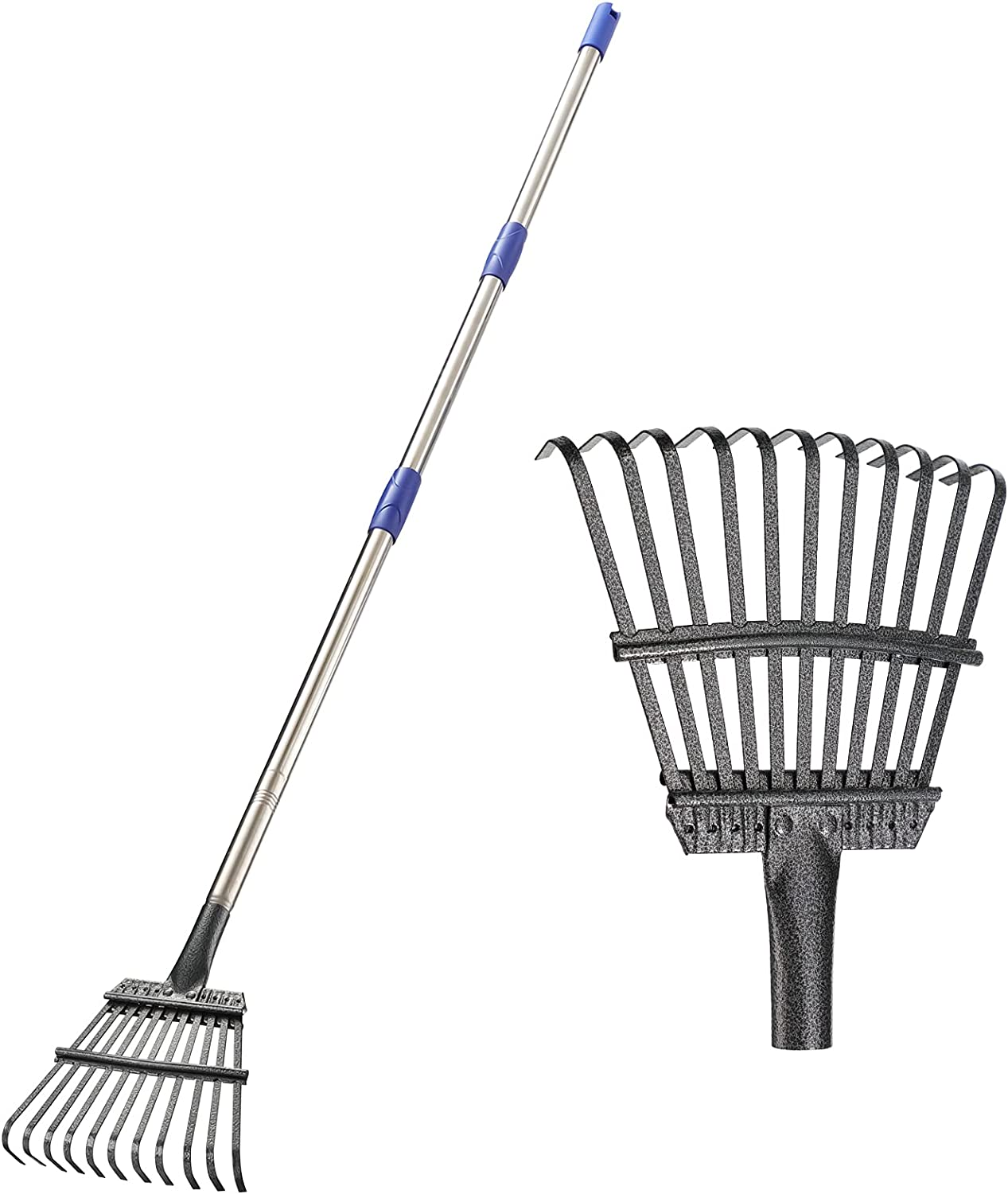 Garden Leaf Rake 72 inch with Metal Adjustable Duty New popularity Heavy Free shipping New
