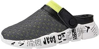 👍ONLY TOP👍 Mens Womens Mesh Sandals Garden Clog Shoes Breathable Summer Slippers Lightweight Walking Beach Sandals