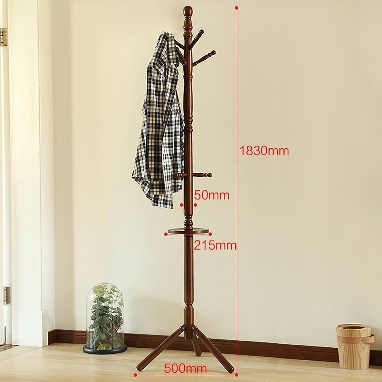 Coat Rack Solid Wood Floor Hanger Bedroom Modern Minimalist Creative Clothes Rack (color   B)