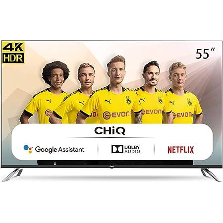 CHiQ U55H7A, 55 Pouces(140cm), Android 9.0, Smart TV, UHD, 4K, WiFi, Bluetooth,Google Assistant, Netflix, Prime Video,3 HDMI,2 USB