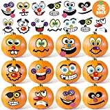36 Pack Halloween Pumpkin Decorating Stickers Mini Make 36 Small Pumpkin Face Stickers for Halloween Kids Toddlers Party Favors Halloween Treats Stickers Gifts 18 Sheets