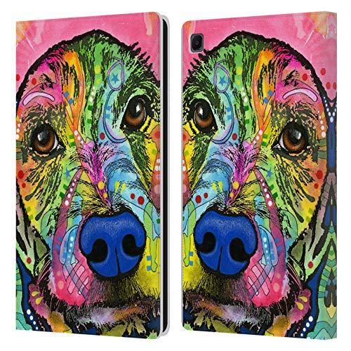 Head Case Designs Oficial Dean Russo Llévame a casa. Perros 3 Carcasa de Cuero Tipo Libro Compatible con Samsung Galaxy Tab S6 Lite
