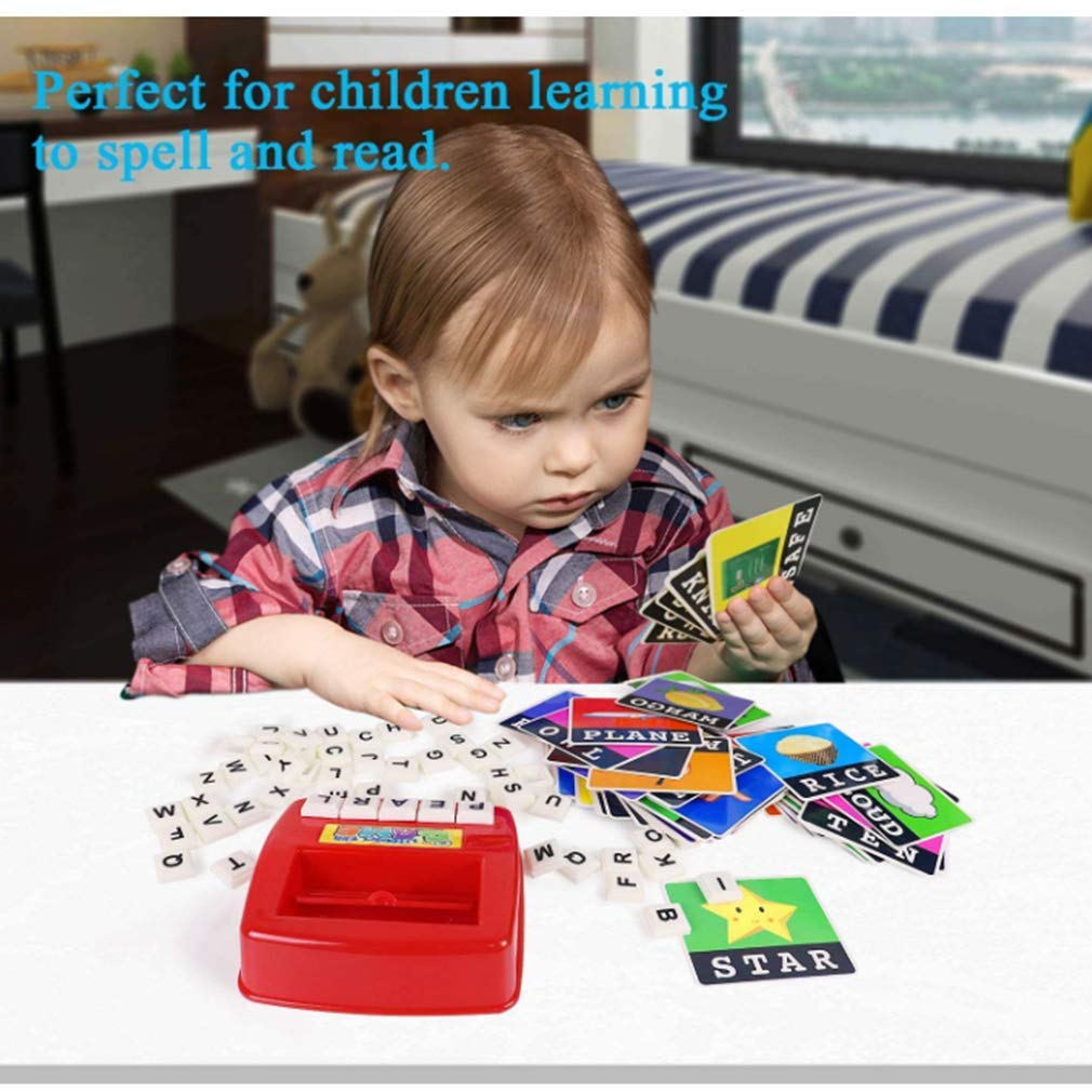 AM ANNA Matching Letter Game, Alphabet Reading & Spelling, Words & Objects, Number & Color Recognition, Educational Learning Toy