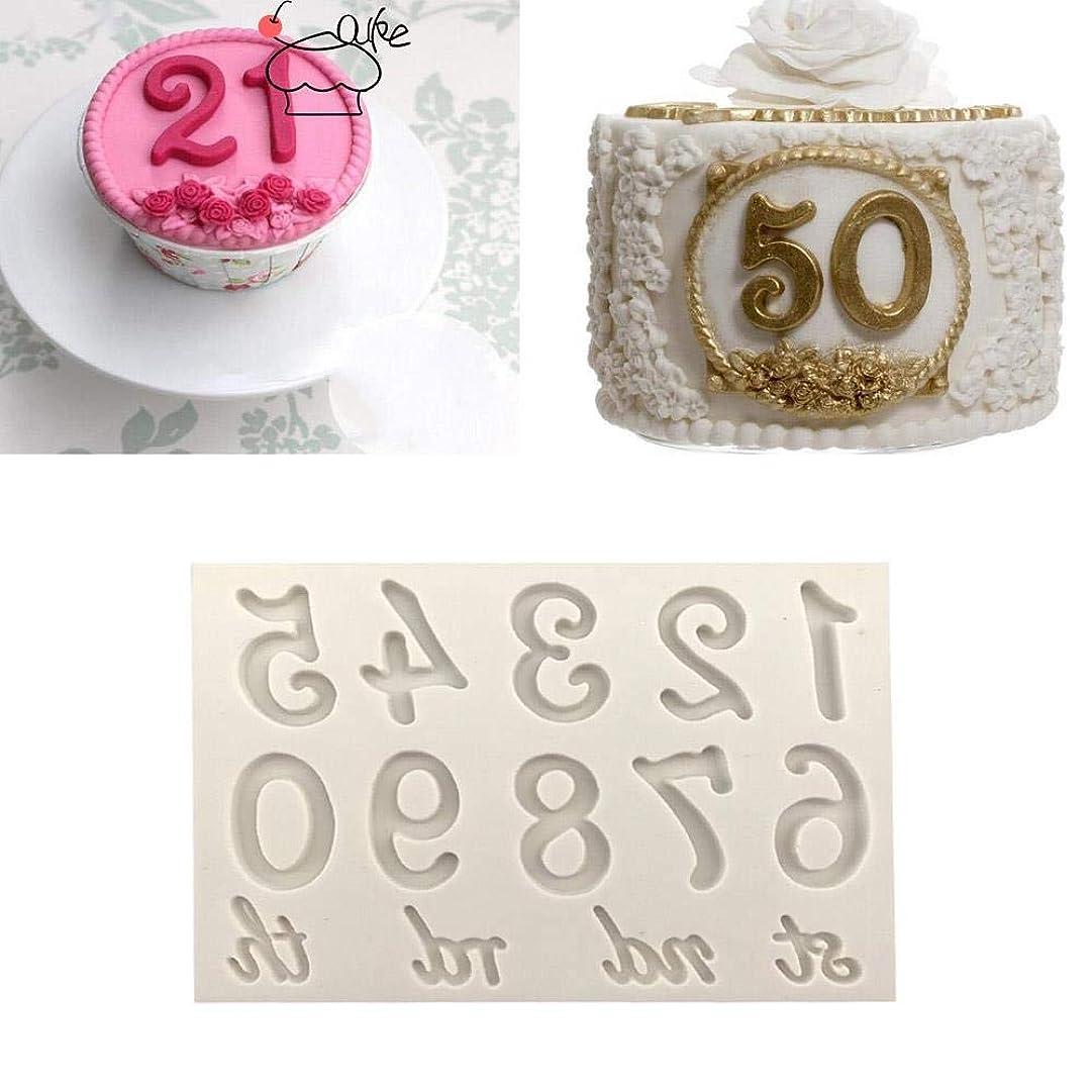 人物疎外第Beicai 型大型数字シリコーン型 3D フォンダン型ケーキデコツール DIY Gumpaste キッチン耐熱皿 K134 (Color : A)