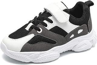 Kids Unisex Platform Tennis Athletic Hook and Loop Sneakers Boys Girls Casual Lightweight School Gym Running Walking Strap Shoes