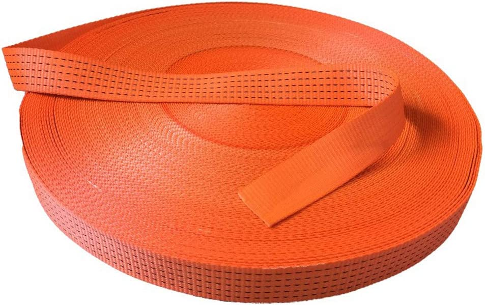 ZHWNGXOlian 5cm Wide Multifunctional Flat Sale OFFicial store price Rope Orange with Cloth