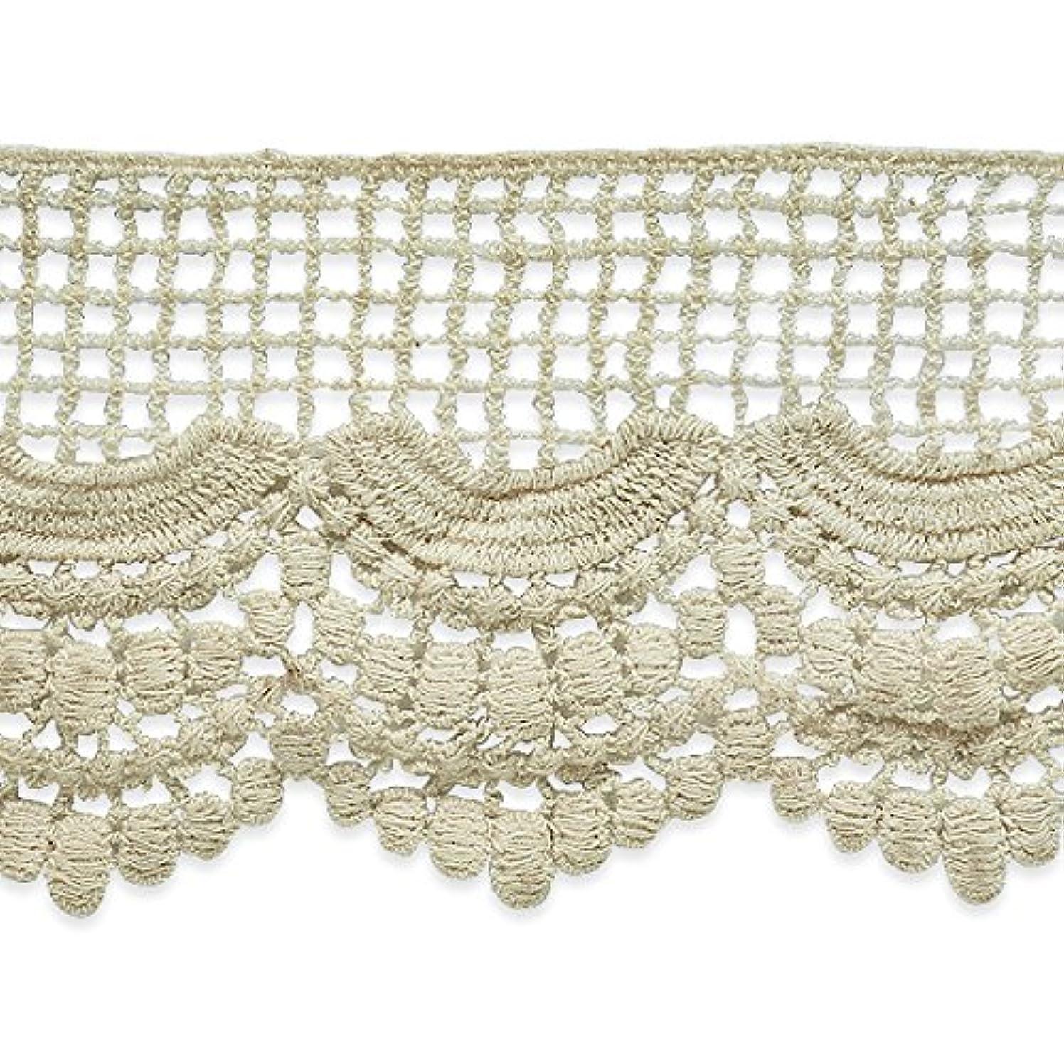 Expo International Janice Cotton Lace Trim, 14 yd/3 1/2