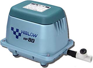 HiBlow HP80 Septic Linear Air Pump (Longest Lasting Pump on The Market) w/Back Pressure Safety Valve