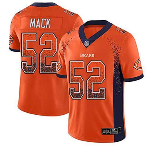 e627d1f7 Men's Chicago Bears #52 Khalil Mack Orange Color Rush Jersey