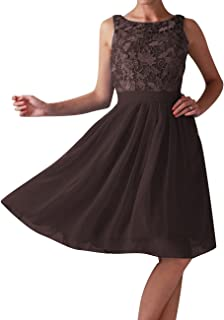 Bridesmaid Dress Short Chiffon Homecoming Dress Lace Prom Dress