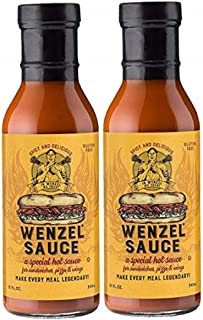 Wenzel | #1 Sandwich Hot Sauce Spicy Tangy Delicious Makes For A Legendary Meal, 12oz Bottle 2-pack