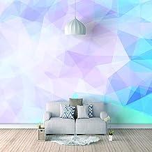 Muurschildering Natuurlijk Landschap Fotobehang - Roze Blauw Glas - Muurschilderingen voor Slaapkamer Huis Woonkamer Slaap...