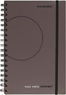 AT-A-GLANCE PLAN.WRITE.REMEMBER. 80620330 Planning Notebook Two Days Per Page, 6 x 9, Gray