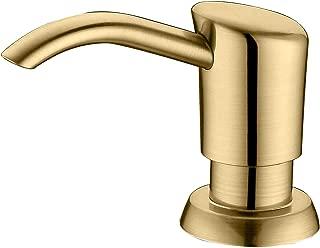 Best brushed gold soap dispenser Reviews
