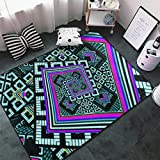 NiYoung Kaleidoscope Trippy Acid Kitchen Rug Memory Foam Floor Pad Rugs with Non-Slip Rubber Backing, Fast Dry Throw Bath Rugs Standing Mat Home Decor Cozy Nursery Rugs