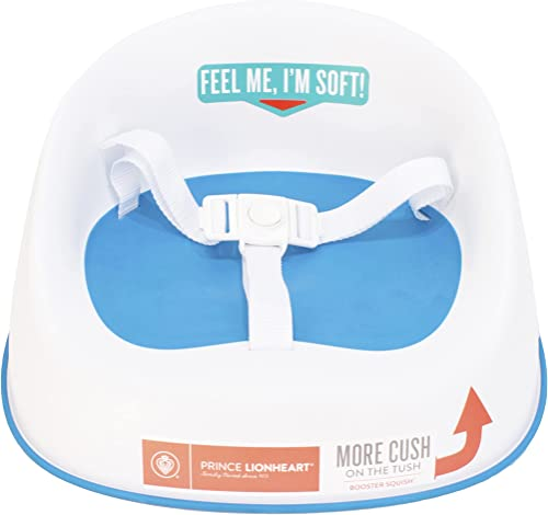 Prince Lionheart Squish Booster Seat, Berry Blue, 3-Point Harness and Dual-Strap System, Easy to Wipe Clean, and Ligh...