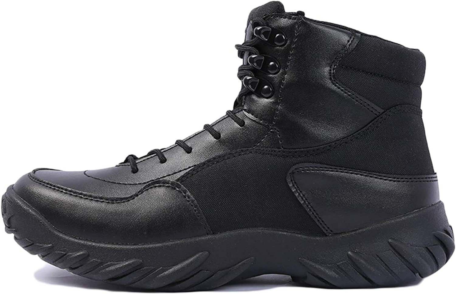 Combat Boots G-6 Leather Side Zip Army Tactical Boots Delta Military Work Army shoes Safety Ankle Boots Breathable Commando Outdoor Desert Tactical Military Patrol Boots