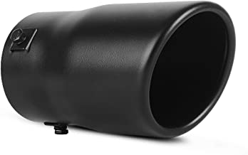 AUTOSAVER88 2-2.5 Inch Inlet Black Exhaust Tip,Black Coated Finish Stainless Steel Exhaust Tailpipe Tip, 2