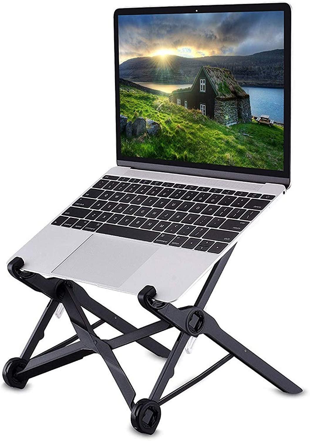 Laptop Stand, Laptop Stand Foldable Adjustable Travel Notebook Stand Desktop Saver Stand