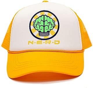 NERD Unisex-Adult One-size Flat Bill Trucker Hat Multi (White/Yellow)