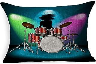 Ace Mate Throw Pillow Cover Snare Kit Performance Drummer Tom Instrument Party Percussion Drum Girl Equipo de Concierto Objeto Pop Rock Show Funda de Almohada