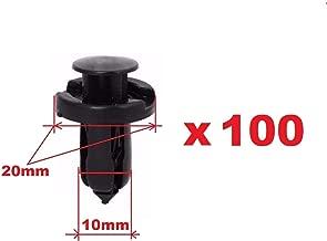 100pcs - 10mm Nylon Honda Acura Clips Plastic Push Type Rivet Retainer Fastener Bumper Pin Fender Flare