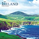 Ireland 2021 12 x 12 Inch Monthly Square Wall Calendar with Foil Stamped Cover, Scenic Travel Dublin Irish