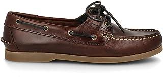 PAYMA - Chaussures Bateau Homme en Cuir Spécial Seahorse Huilé. 2 Oeillets Lacet Classique Docksides. Semelle en Caoutchou...