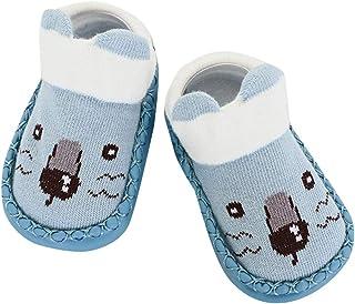 WUAI Baby Boys Girls Non-Skid Socks Toddlers Moccasins Kids Cute Thick Warm Non-Slip Cozy Socks Slipper Winter