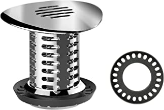 Hair Catcher Shower Drain, Veecom Upgraded Chrome Shower Drain Hair Trap, Anti-Rust Tub Hair Strainer, Bathroom Sink Shower Hair Drain Catcher Fit Drain Sizes from 1.46 to 1.79 Inches