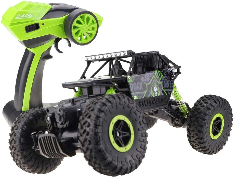 despacho de tienda YXWJ RC RC RC Coche 4WD 2.4 GHz Escalada Coche 4x4 Doble Motores Bigfoot Control Remoto de Coche Modelo de Vehículo Todoterreno (Color   verde, tamaño   Battery3)  40% de descuento