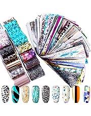 Duufin 200 Hojas Transferencia de Uñas Pegatinas Calcomanias Uñas de Arte para Uñas Decorativas