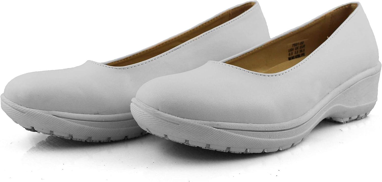 Laforst Darling Manmade Upper Slip Resistant Waitress Server Fashion Slip On Shoes