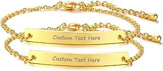 VNOX Customize Friendship Bridesmaid Jewelry-Set for 2/3/4/5 Stainless Steel Coordinates Thin Bar Bracelet