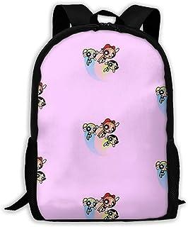Custom Powerpuff Girls Pink Casual Backpack School Bag Travel Daypack Gift