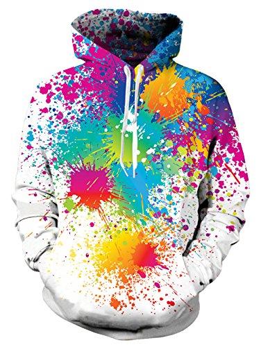 NEWISTAR Unisex Funny Christmas Patterned Sweatshirts Kapuzenpullover Men Colourful HD 3D Printed Pullover