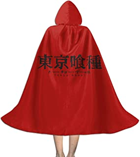 RJ5nrusfwtba Tokyo Ghoul Unisex Kids Hooded Cloak Cape Halloween Xmas Party Decoration Role Cosplay Costumes Black